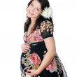 Charming young pregnant woman — Stock Photo #2843584