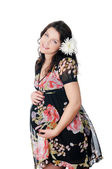 Charming young pregnant woman — Stock Photo