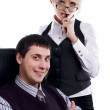 Charming the businessman with the colleague — Stock Photo