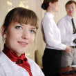Charming business woman — Stock Photo