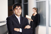 The businessman with the colleague — Stock Photo