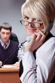 The charming young businesswoman — Stock Photo