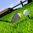 Ball and golf clubs — Stock Photo #2928857