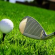 Ball and golf clubs — Stock Photo #2955636