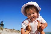 Small happy little girl — Stock Photo