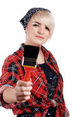 Charming blonde painter — Stock Photo