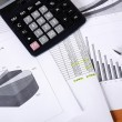 Business  and the financial reports — Stock Photo