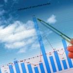 Satış, Çizelgeler ve grafikler — Stok fotoğraf