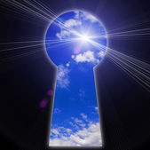 Keyhole - the door — Foto Stock