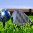 Earth - like a golf ball — Stock Photo
