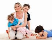 Children and parents — Stockfoto