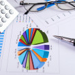 Stockfoto: Charts and graphs of sales
