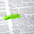 Stock Photo: Word selection in the dictionary