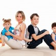 Children and parents — Stockfoto