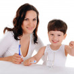 jeune mère et l'enfant — Photo