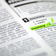 Stock Photo: Word selection in dictionary