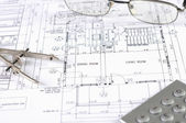 Drawings of building — Φωτογραφία Αρχείου