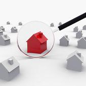 красный дом — Стоковое фото