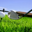 Ball and golf clubs — Stock Photo #3377729