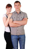 Charming young couple — Stock Photo