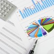 Charts and graphs of sales — Stock Photo #3408588