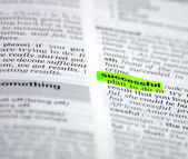Word selection in the dictionary — Stock Photo
