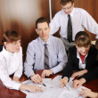 The team of young business — Stock Photo
