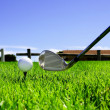 Ball and golf clubs — Stock Photo #3448875