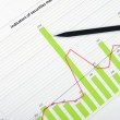 Charts and graphs of sales — Stock Photo