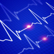 Image of the heart rate - Stockfoto