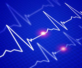 Image of the heart rate — Foto de Stock