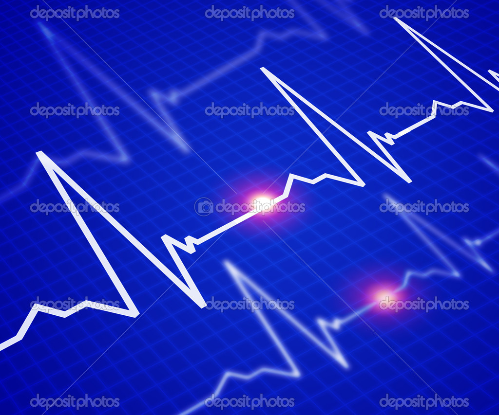 Facilities with the image of the heart rate — Stock Photo #3505210