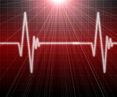 Image of the heart rate — Stock Photo