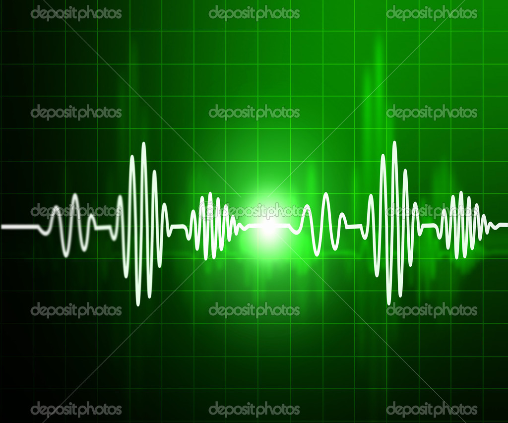 Abstract background. The heartbeat in the background of the monitor.  Stock Photo #3570574