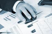 Workplace businessman — Stock Photo