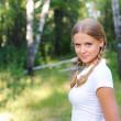 Young beautiful girl — Stock Photo