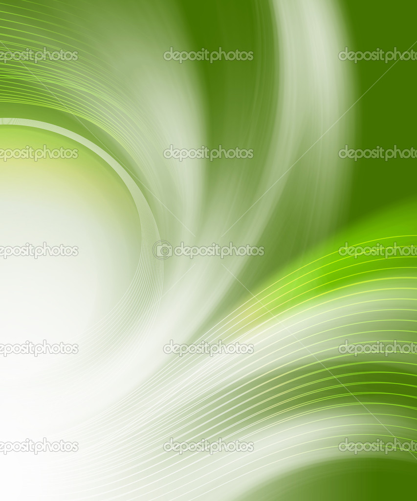 Beautiful green abstract backgrounds in the form of waves and lines — Stock Photo #3690665