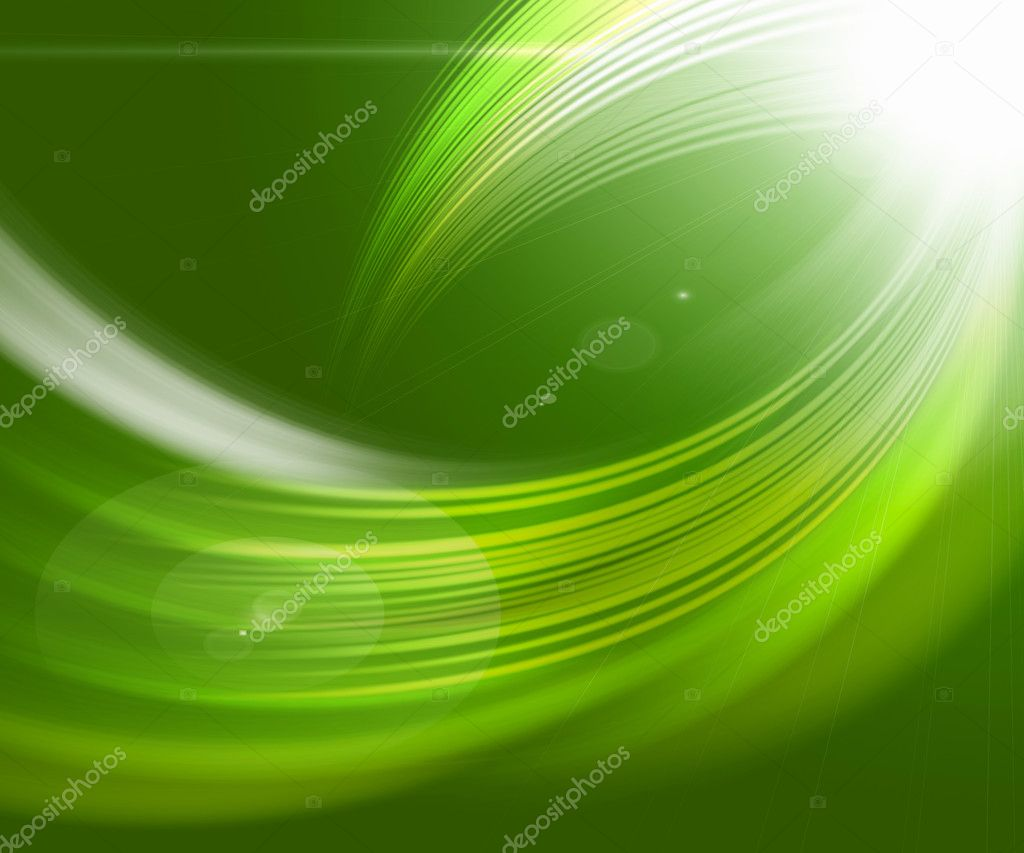 Beautiful green abstract backgrounds in the form of waves and lines — Stock Photo #3729253