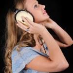 Girl in headphones — Stock Photo #3751885