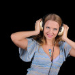 Young girl with headphones — Stock Photo #3751892