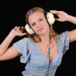 Young girl with headphones — Stock Photo #3751895
