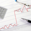 Stock Photo: Charts and graphs of sales