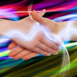 Royalty-Free Stock Photo: Handshake of two business