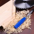 Wood shavings — Stockfoto