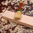 Shavings of wood, - Foto Stock