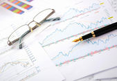 Charts, diagrams, tables. — Stock Photo