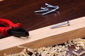 Aparas de madeira — Fotografia Stock