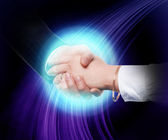 Handshake of two business — Stock Photo