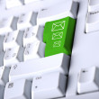 Detail of the keyboard — Stock Photo