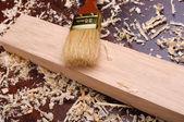 Trucioli di legno, — Foto Stock